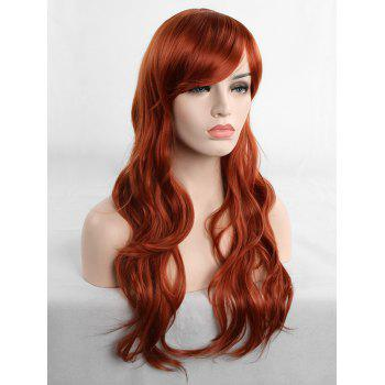 Long Inclined Fringe Wavy Cosplay Synthetic Wig