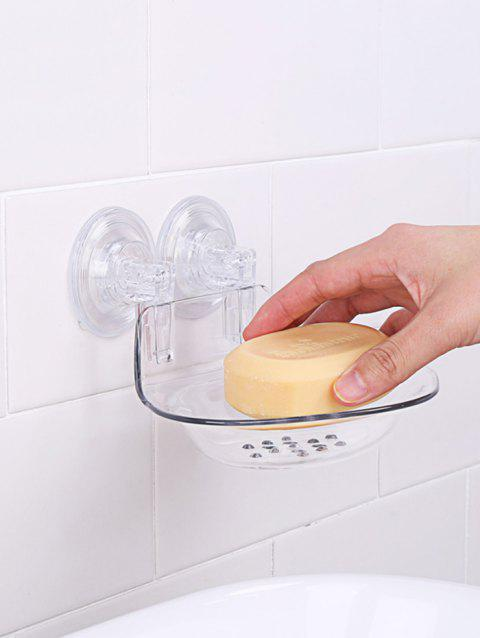Bathroom Suction Wall Mounted Shower Soap Dish - TRANSPARENT
