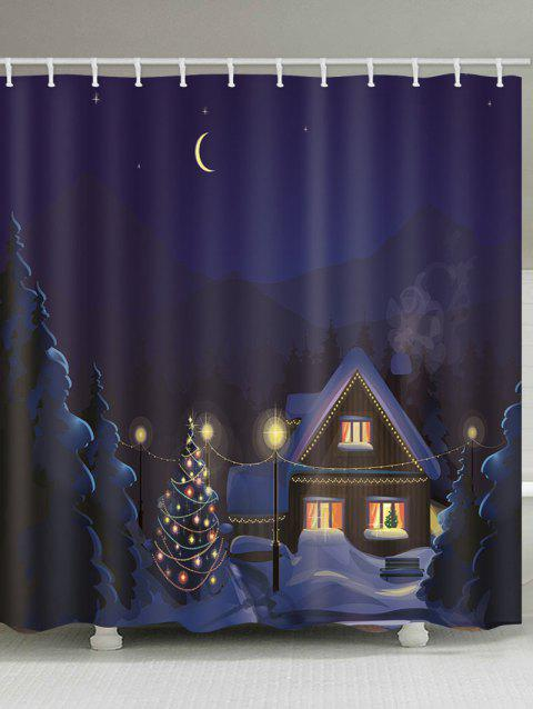 Rideau de douche étanche Snow Moon Christmas - multicolor B 180*180CM