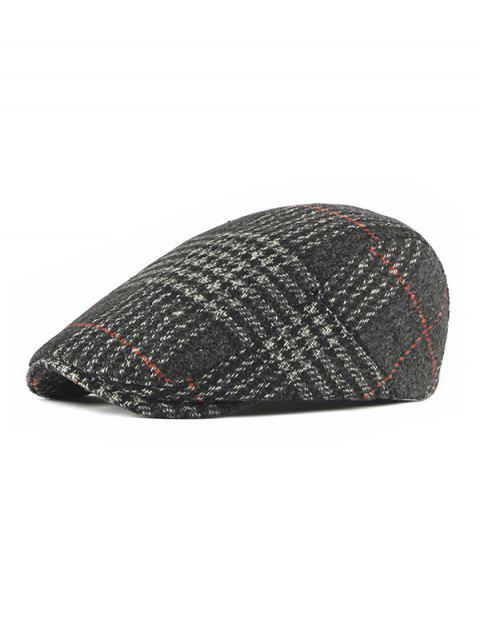 Plaid Pattern Winter Tweeds Flat Cap - SMOKEY GRAY