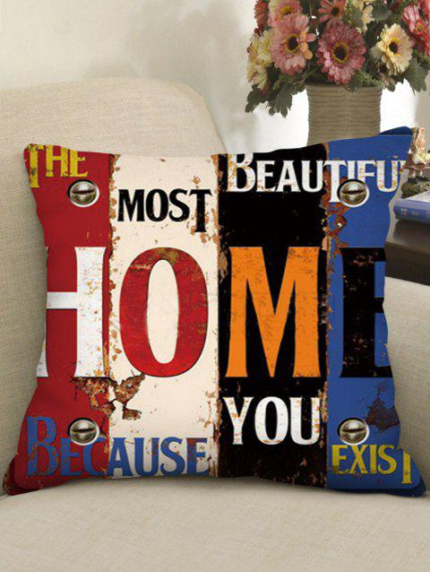 Character Print Square Cushion - multicolor D W18 X L18 INCH