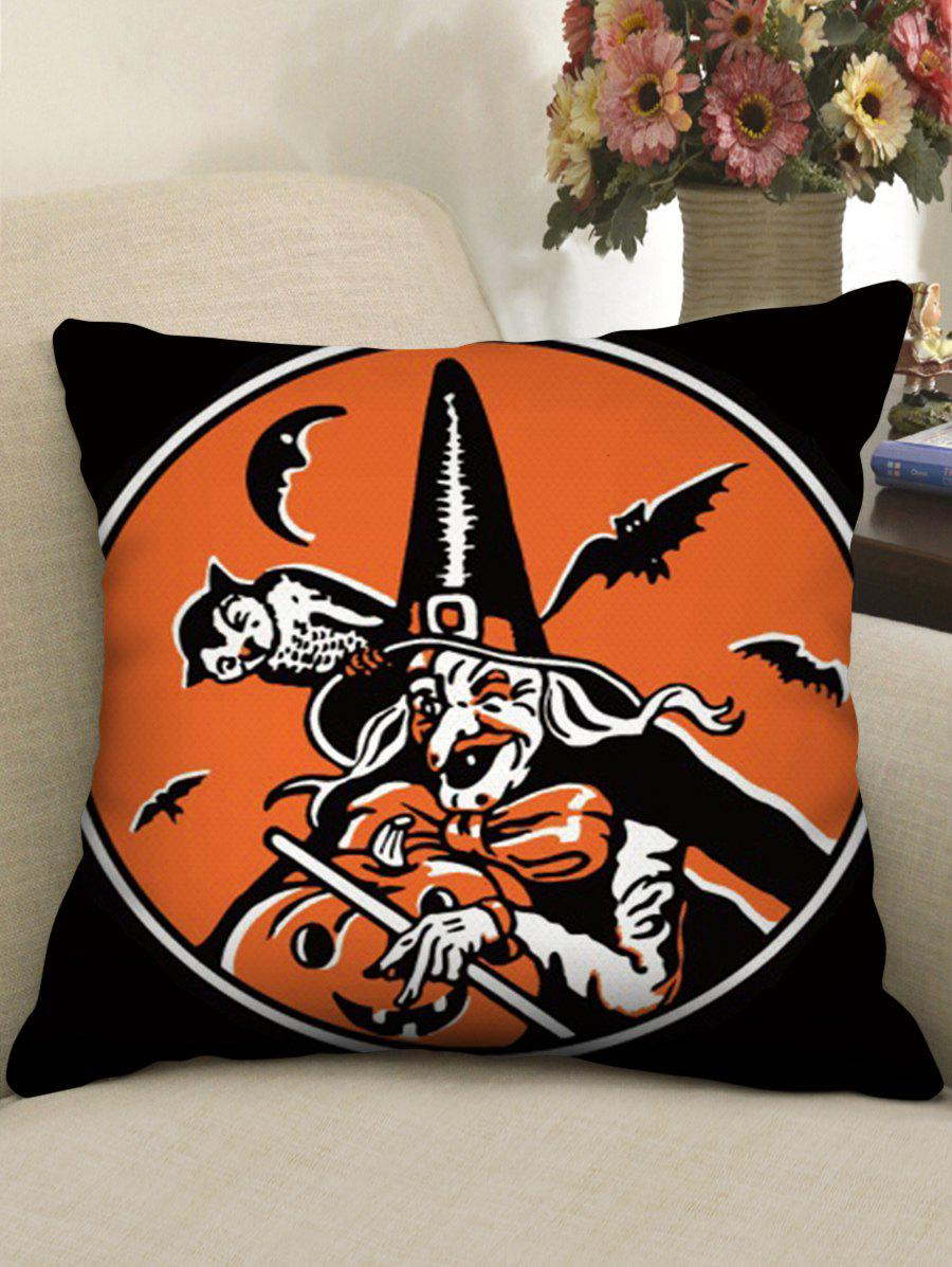 Halloween Theme Patterned Decorative Pillowcase - multicolor A W18 X L18 INCH