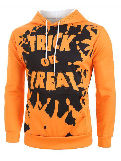 Trick or Treat Peinture Sweat À Capuche Halloween Halloween - Safran 3XL