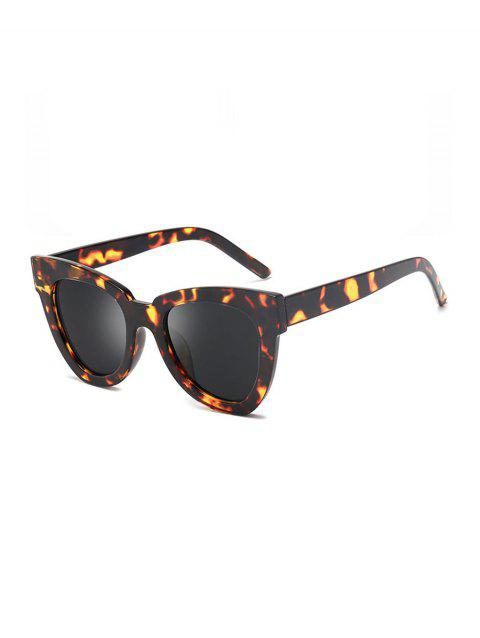 Wide Rim Anti UV Sunglasses - LEOPARD