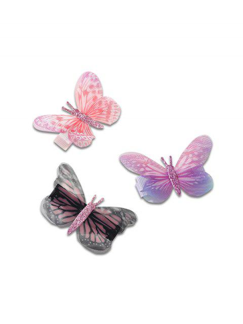 Chic Butterfly Design Hairpins Set - multicolor