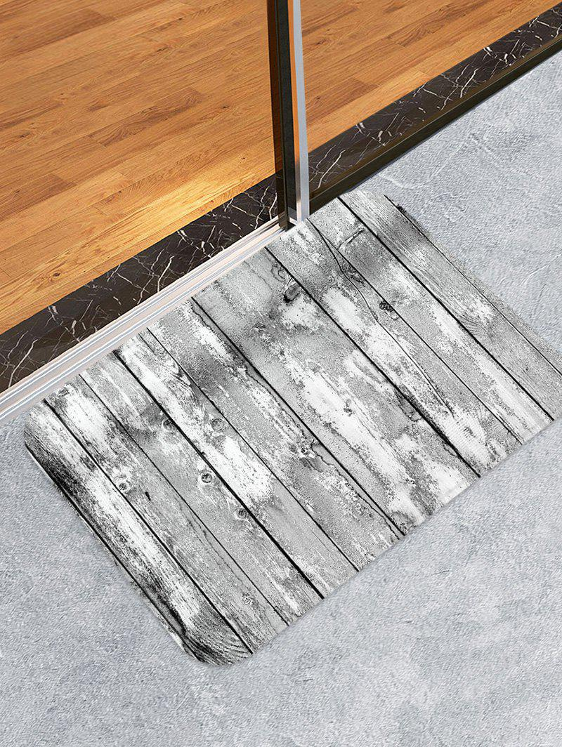 Wooden Board Patterned Water Absorption Area Rug - multicolor W20 X L31.5 INCH