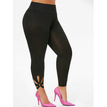 O Ring Cut Out High Waisted Ninth Plus Size Leggings