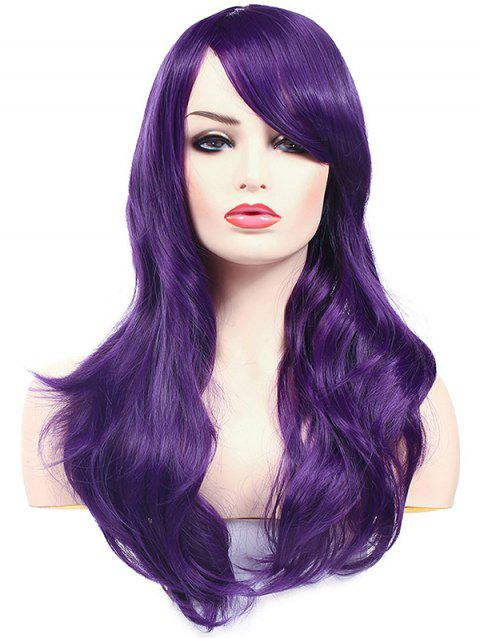 Christmas Long Synthetic Wavy Side Bang Cosplay Wigs - PURPLE IRIS 22INCH