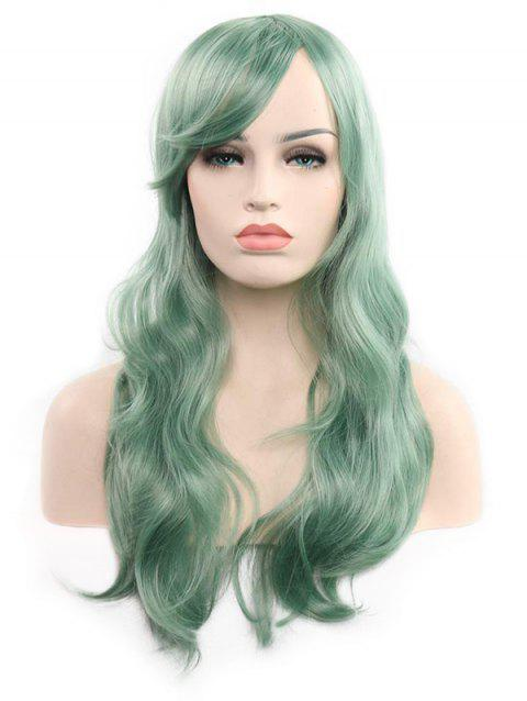 Christmas Long Synthetic Wavy Side Bang Cosplay Wigs - LIGHT SEA GREEN 22INCH