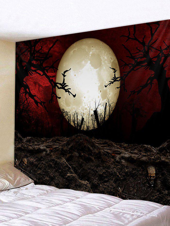 Halloween Moon Night Printed Tapestry - multicolor A 230*180CM