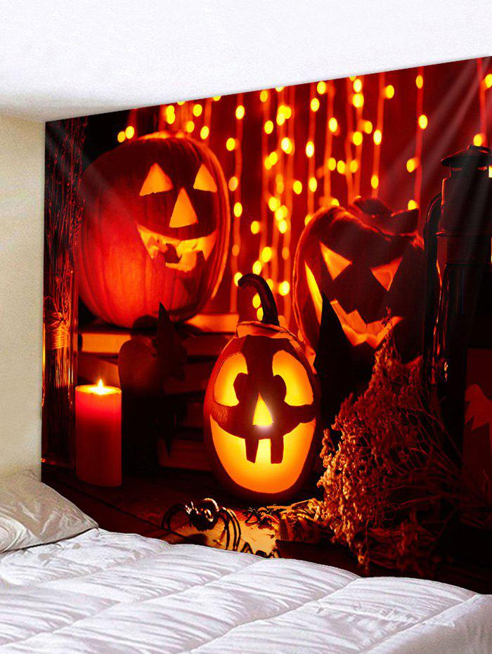 Halloween Pumpkin Pattern Tapestry - multicolor A 150*150CM