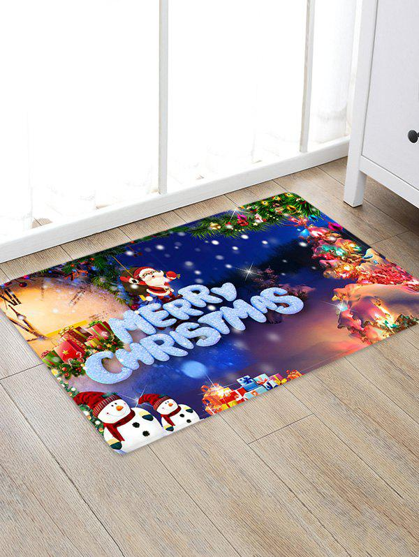 Christmas Pattern Decorative Antiskid Area Rug - multicolor A W20 X L31.5 INCH