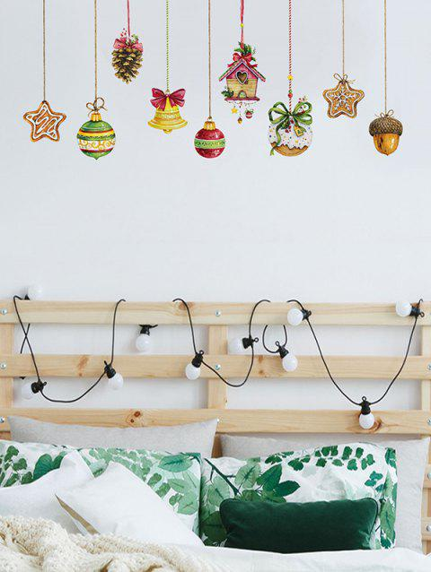 Christmas Hanging Decorations Print Wall Art Stickers - multicolor A 45*60CM