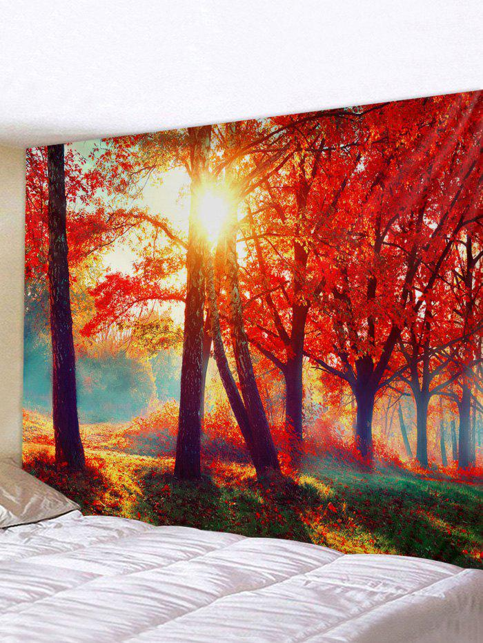 Maple Tree Forest 3D Print Wall Tapestry - multicolor A 150*130CM