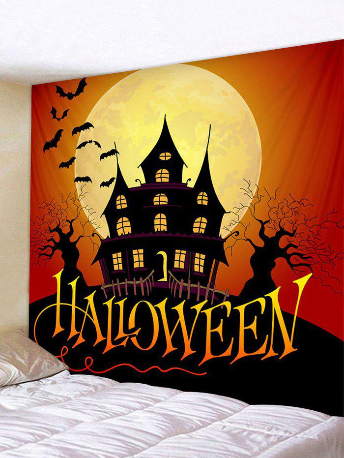 Halloween Character Bat Print Art Decoration Wall Tapestry - multicolor W91 X L71 INCH