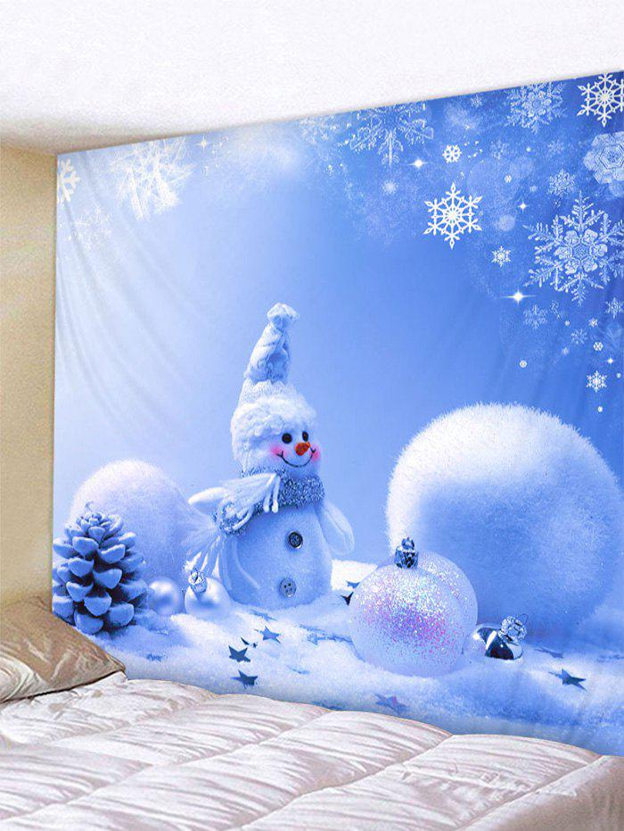 Christmas Snowman Printed Wall Hanging Tapestry - multicolor F W79 X L71 INCH