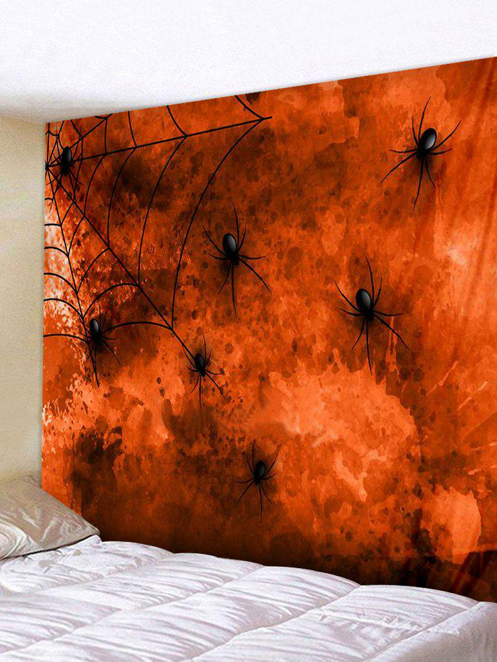 Halloween Spider Print Art Decoration Wall Tapestry - multicolor W91 X L71 INCH