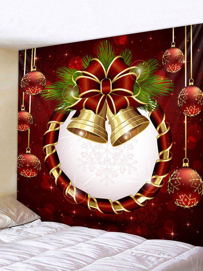 Christmas Ball Bell Print Decorative Wall Art Tapestry - multicolor W59 X L51 INCH
