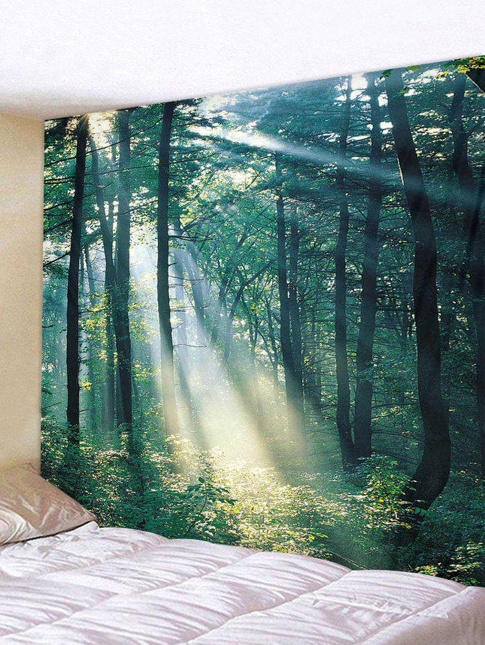 Sunlit Forest Patterned Tapestry Wall Hanging Art Decoration - multicolor A 230*180CM