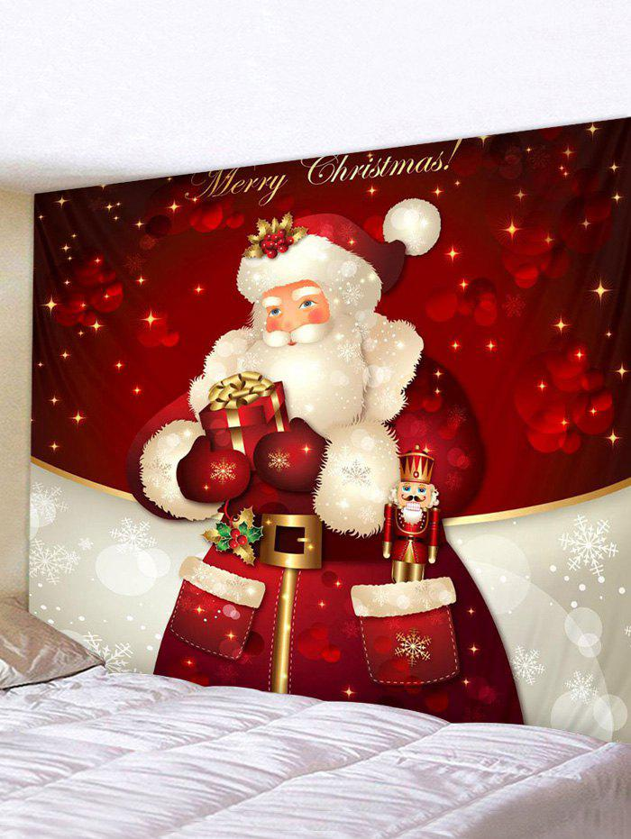 Christmas Santa Claus Gift Print Tapestry Wall Hanging Art Decoration - multicolor W59 X L59 INCH
