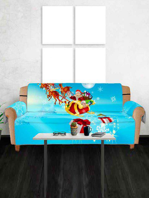 Christmas Sleigh Gifts Pattern Couch Cover