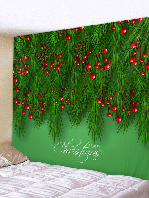 Christmas Tree Fruit Print Wall Decor Tapestry - multicolor W59 X L51 INCH