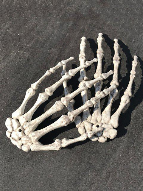Halloween Party Decoration Pair of Skeleton Hands - WARM WHITE