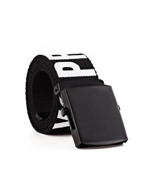 Letter Wide Knitted Buckle Belt - NIGHT