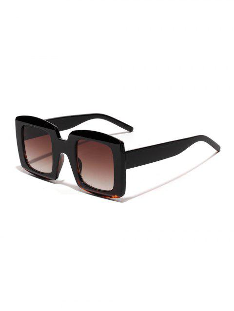 Oversized Anti UV Square Sunglasses - LEOPARD