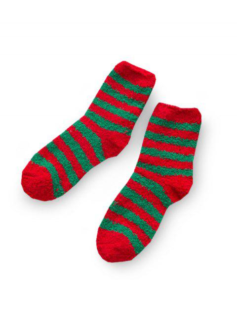 Christmas Tree Deer Suede Quarter Length Socks - multicolor A