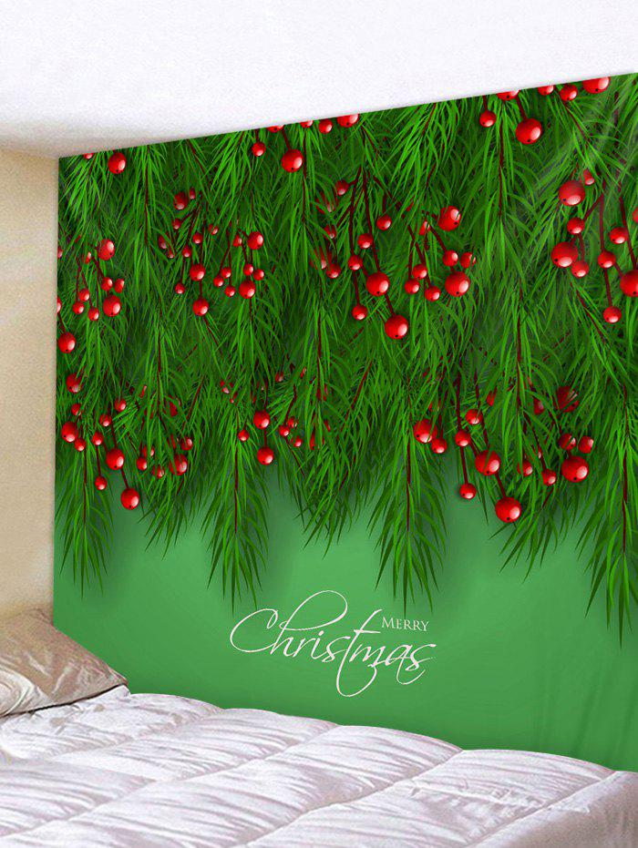 Christmas Tree Fruit Print Wall Decor Tapestry - multicolor W79 X L59 INCH