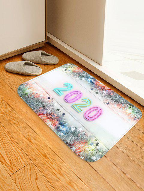 Christmas Tree Branch Stars Number Print Water Absorption Area Rug - multicolor G W16 X L24 INCH