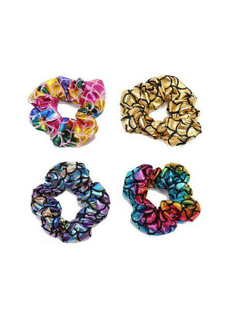 4 PCS Colorful Scale Print Hairbands - multicolor A