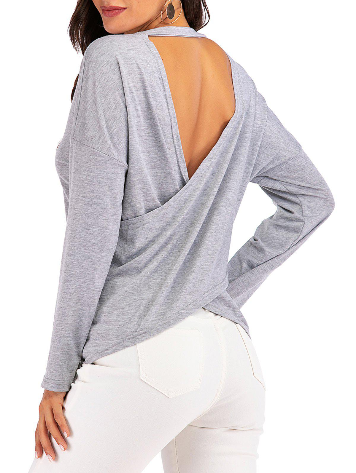 Retour Marled Cross Top Cutout - Gris L
