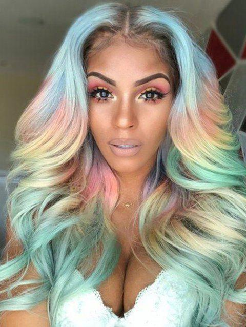 Center Part Long Ombre Wavy Synthetic Wig - FANTASTIC 24INCH