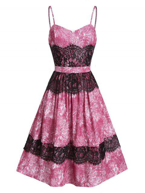 Sweetheart Neck Lace Fit And Flare Lace Strap Dress