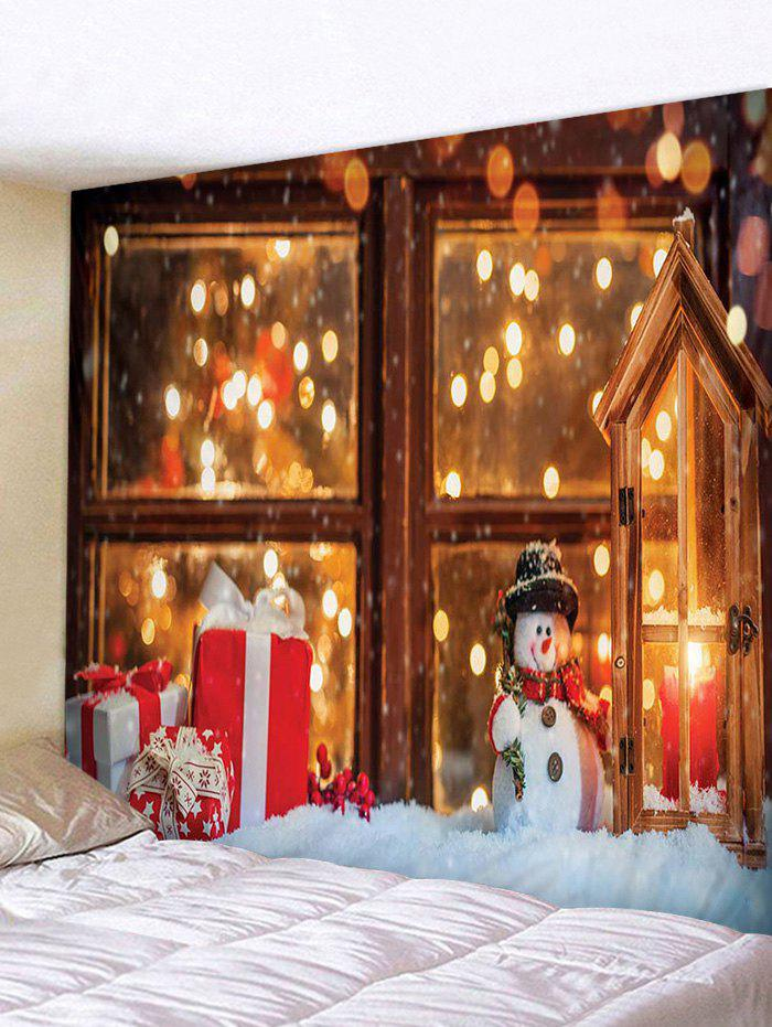 Digital Print Christmas Gift Window Decorative Tapestry - multicolor W79 X L59 INCH