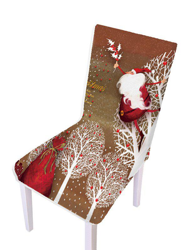 Christmas Pattern Elastic Chair Covers - multicolor D