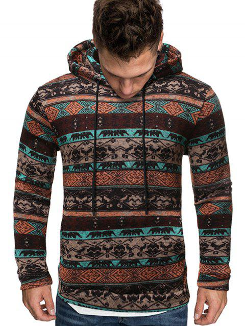 Tribal Printed Kangaroo Pocket Hoodie