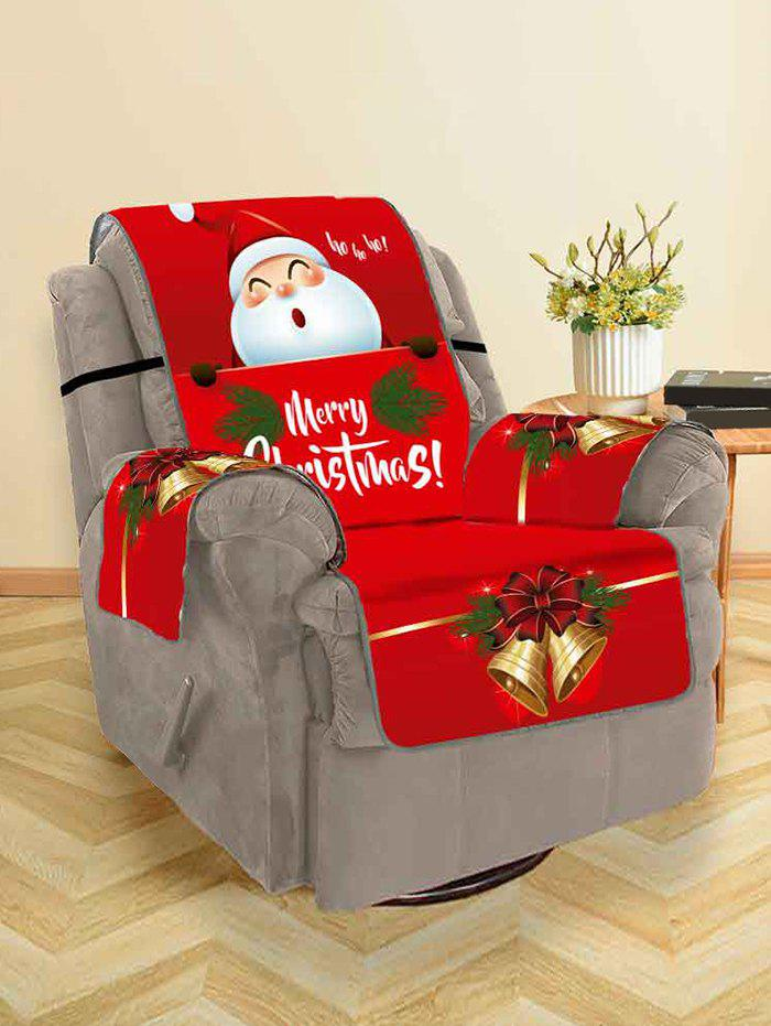 Christmas Bell Santa Claus Design Couch Cover - multicolor SINGLE SEAT