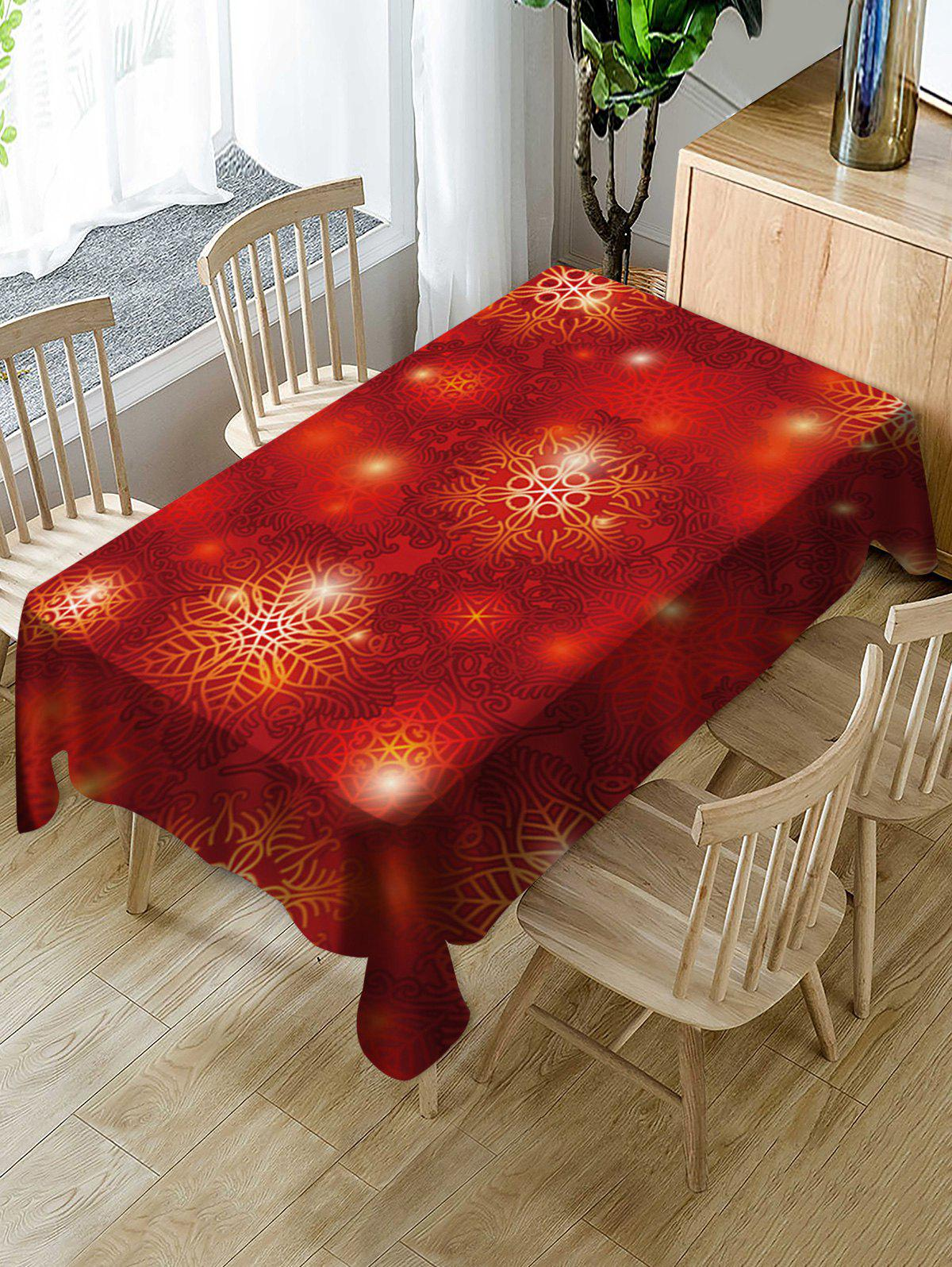 Christmas Fabric Waterproof Table Cloth - multicolor W55 X L55 INCH