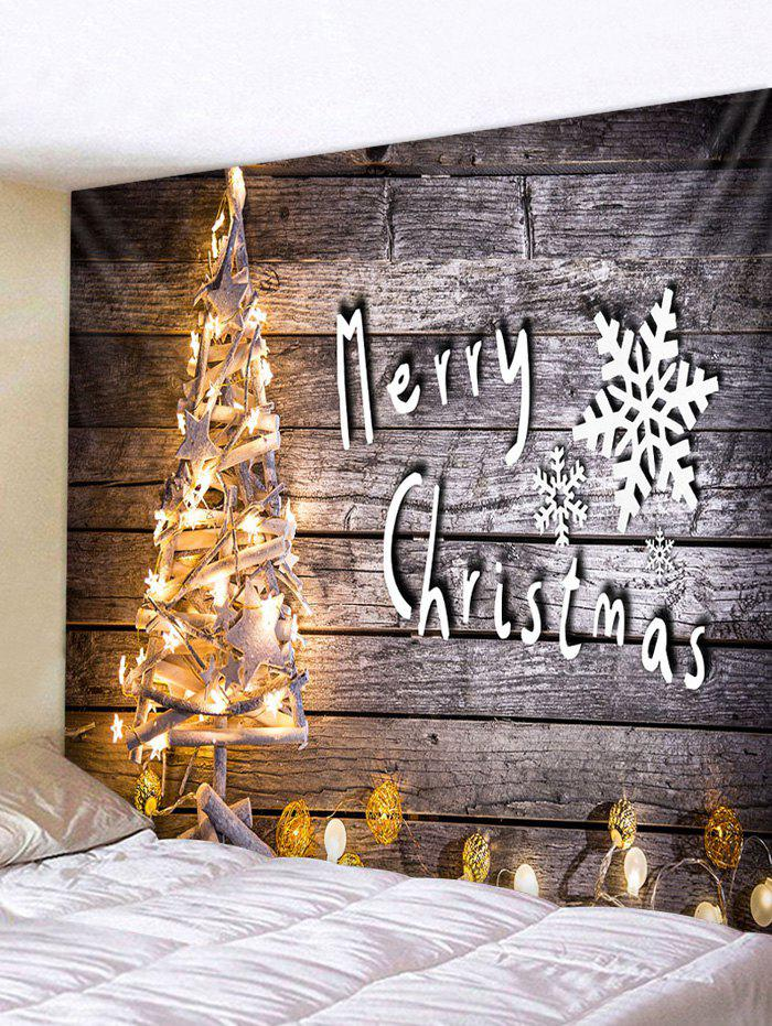 Christmas Tree Lights Print Tapestry Wall Hanging Art Decoration - multicolor W79 X L59 INCH