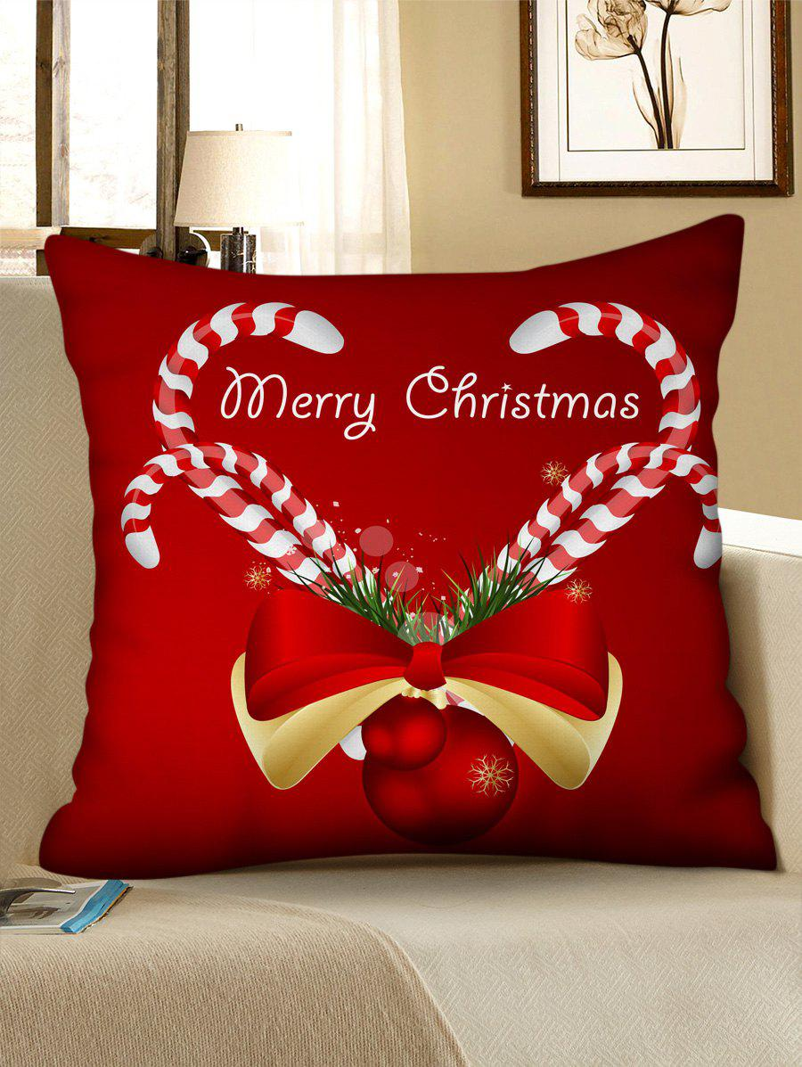 Christmas Pattern Design Polyester Pillow Cover - multicolor D W18 X L18 INCH