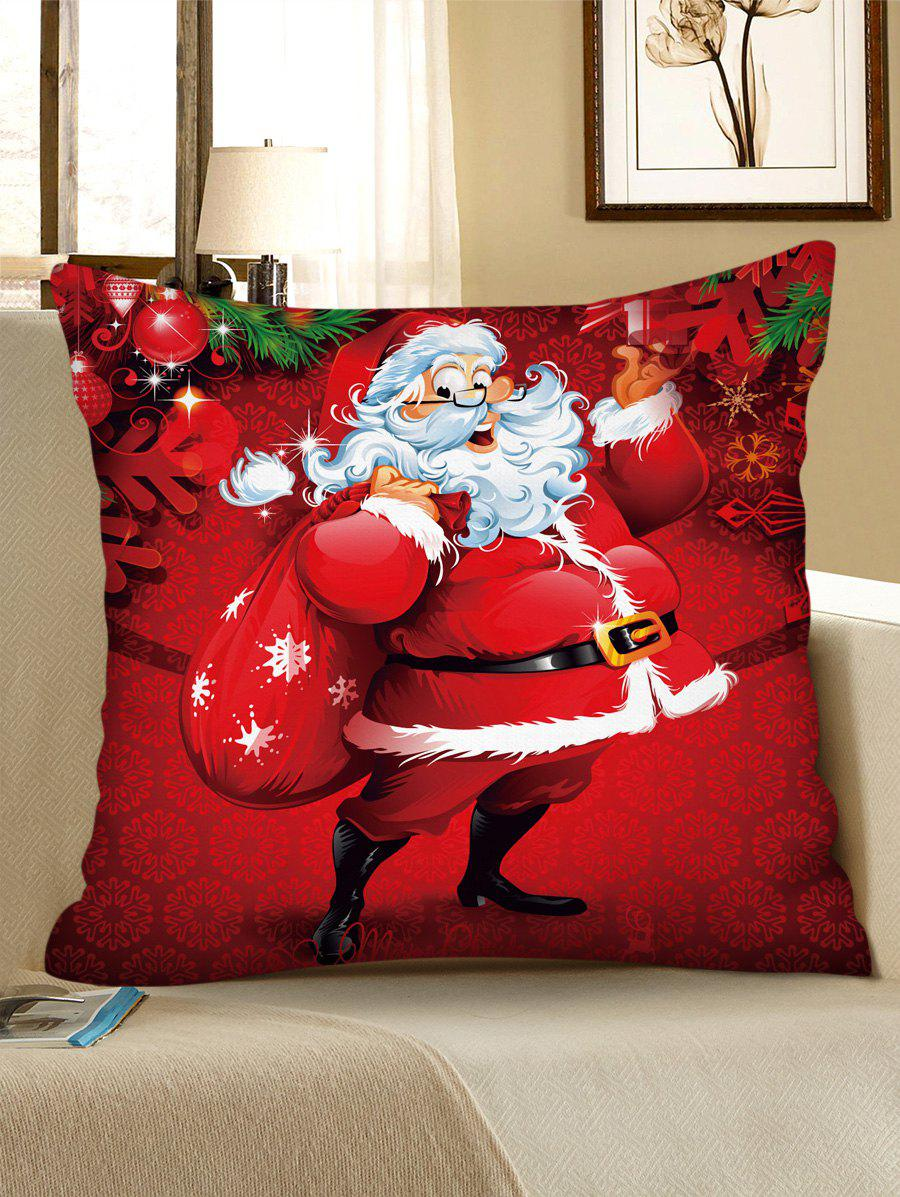 Christmas Pattern Polyester Pillow Cover - multicolor C W18 X L18 INCH