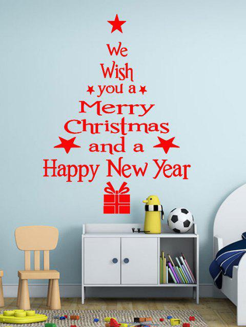 Merry Christmas and New Year Greetings Print Wall Art Stickers