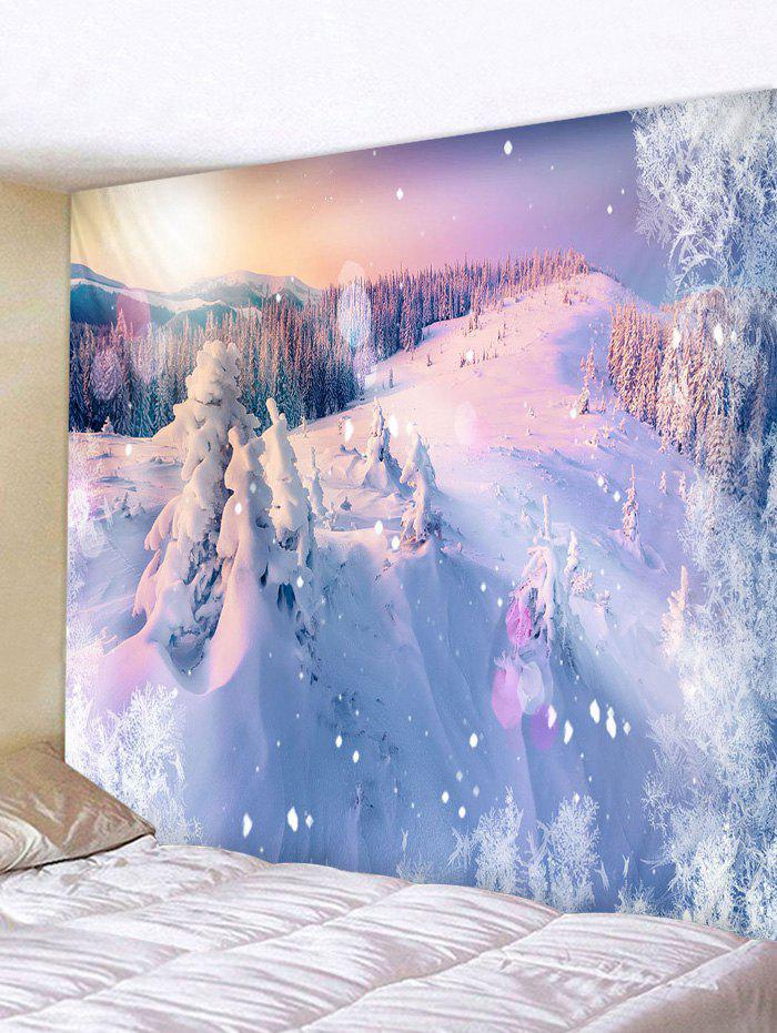 Snow Mountains Print Tapestry Wall Hanging Art Decoration - multicolor W59 X L59 INCH
