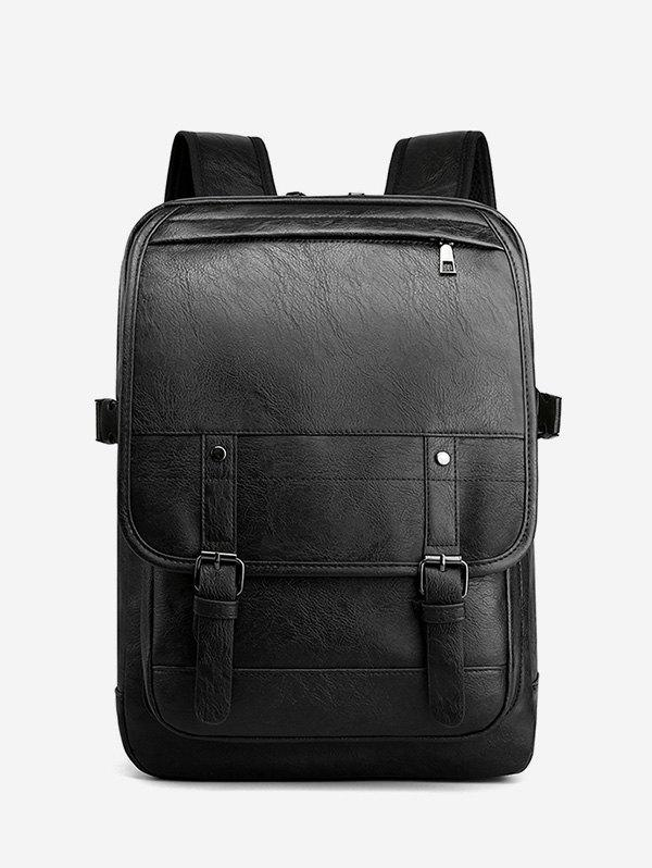 Solid Business Computer Casual Backpack - BLACK