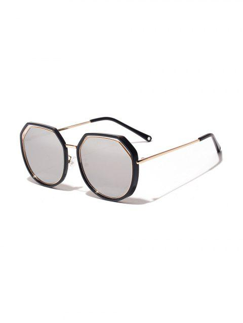 Irregular Double Frame Sunglasses - WHITE