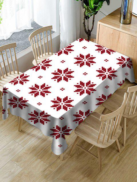 Nappe de Table de Noël Motif de Flocon de Neige en Tissu - multicolor W55 X L55 INCH