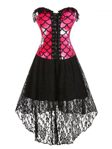 41 off 2020 plus size faux leather panel laceup corset